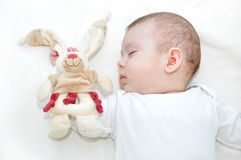 Baby and his toy Stock Photography