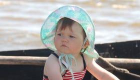 Baby in hoed Royalty-vrije Stock Afbeeldingen