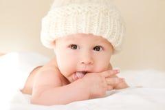 Baby in hoed Royalty-vrije Stock Fotografie