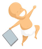 Baby holding a digital tablet Royalty Free Stock Photography