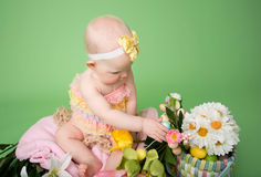 Baby holding an Easter Egg Royalty Free Stock Photos