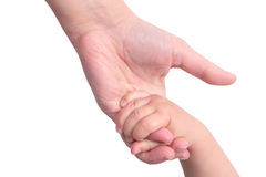 Baby holding mother's hand Royalty Free Stock Photo