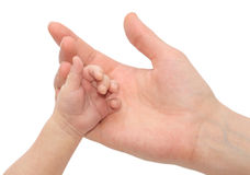 Baby Holding Mothers hand Royalty Free Stock Photography