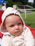 Baby in the hood Royalty Free Stock Photography