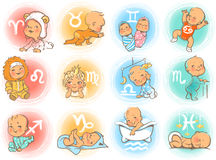 Baby horoscope Royalty Free Stock Image