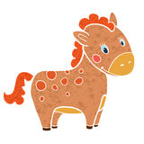 Baby horse cartoon smile isolated simple vector. Illustration royalty free illustration
