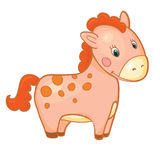 Baby horse cartoon smile isolated simple vector. Illustration vector illustration