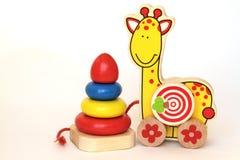 Baby houten speelgoed Royalty-vrije Stock Foto's