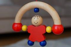 Baby houten stuk speelgoed - rollende mens Royalty-vrije Stock Foto