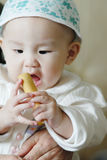 Baby hungry,Urgent desire food Royalty Free Stock Photos
