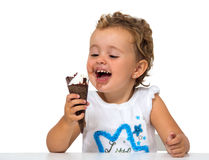 Baby with ice cream Royalty Free Stock Images