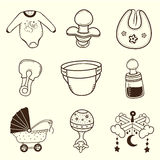Baby icon Collection. Illustration Of a Baby Icon Set Royalty Free Stock Photos