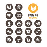 Baby icon. Cute baby. Vector illustration. Stock Photography
