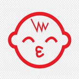 Baby icon Illustration sign design Stock Photography