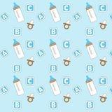 Baby Icon Pattern Stock Photography