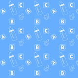 Baby icon patterns Stock Image