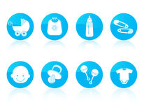 Baby icon set Royalty Free Stock Photos