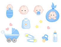 Baby icon set stock illustration