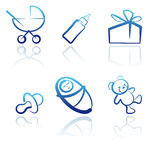Baby icon set. Stock Photo