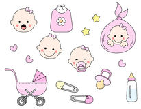 Baby icon set Royalty Free Stock Image