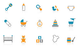 Baby Icon set - Blue Royalty Free Stock Photography