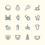 Baby Icon Set Design Stock Photography