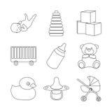 Baby icon set Stock Photography