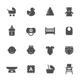 Baby icon set. Vector illustration Stock Photography