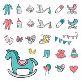 Baby icon set, vector illustration Royalty Free Stock Images