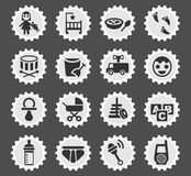 Baby icon set. Baby web icons for user interface design Royalty Free Stock Image