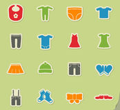 Baby icon set. Baby web icons for user interface design Stock Photography