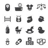 Baby icon set Royalty Free Stock Image