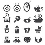Baby icon set Stock Photos