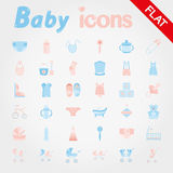 Baby. Icon set. Royalty Free Stock Photo