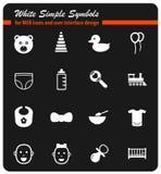 Baby icon set Stock Image