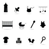Baby icon vector silhouette Stock Photo