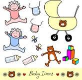 Baby Icons stock photos