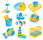 Baby icons Stock Image
