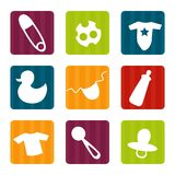 Baby icons. Colorful Stock Photo