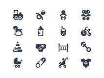 Baby Icons Stock Photo