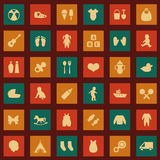Baby Icons, Royalty Free Stock Photography
