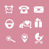 Baby icons interface child kid Royalty Free Stock Image