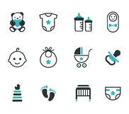 Baby icons. Baby icons isolated on white background. Vector set Royalty Free Stock Photo