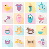 Baby Icons - kids and toys Stock Photography