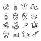 Baby Icons - kids and toys Royalty Free Stock Image