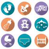 Baby icons Stock Photography