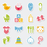 Baby icons Royalty Free Stock Photo