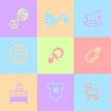 Baby Icons Pack Royalty Free Stock Photos