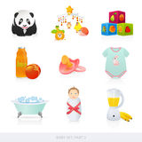 Baby icons. Part 3. This is illustration of baby things Royalty Free Stock Photography