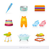 Baby icons. Part 4. This is illustration of baby things Royalty Free Stock Image